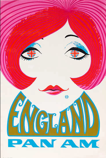 DESIGNER UNKNOWN: PAN AM ENGLAND Circa 1970