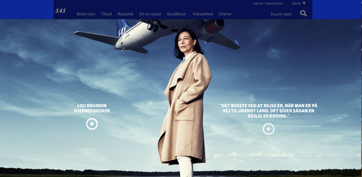 The SAS We Are Travellers Campaign forms an integral part of its content marketing strategy, appealing to the traveler lifestyle and relating to customers as jet-set kindred spirits, image from SAS We Are Travellers site