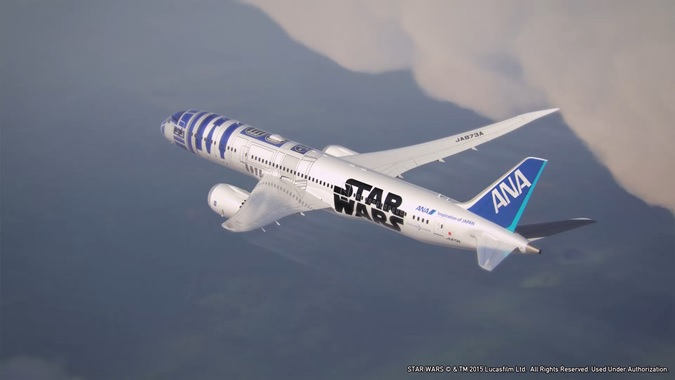 All Nippon Airways ANA Star Wars themed R2D2 ANA Jet/Boeing