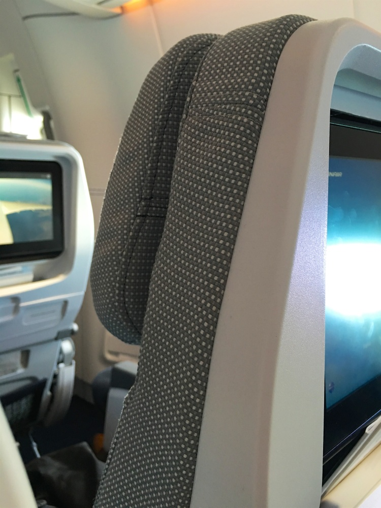 Quality fit and stitching on Finnair's A350 economy dress covers./FCMedia
