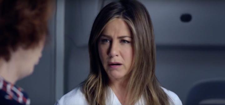 Jennifer Aniston, PaxEx Nightmare Emirates Ad, screenshot, YouTube