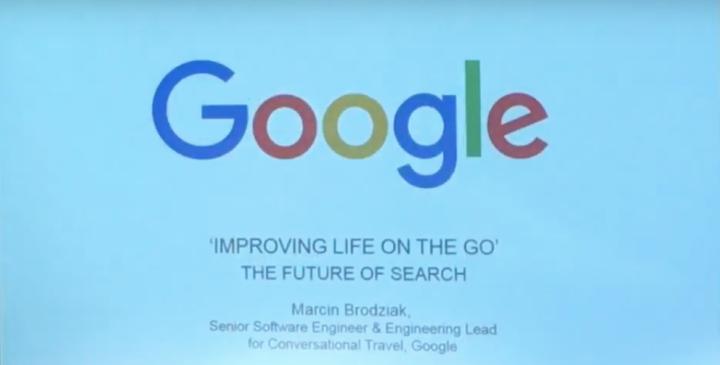 Video Still: Google Presentation on the Future of Travel Search, Presentation by Marcin Brodziak © FCMedia 2016