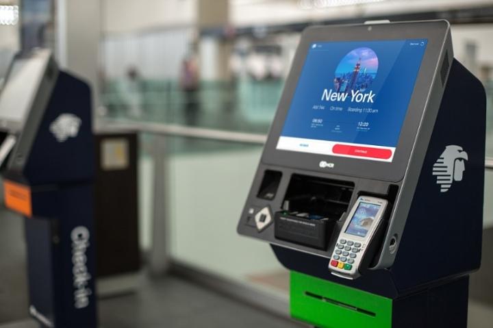Aeromexico's automated airport kiosks (PRNewsFoto/Aeromexico)