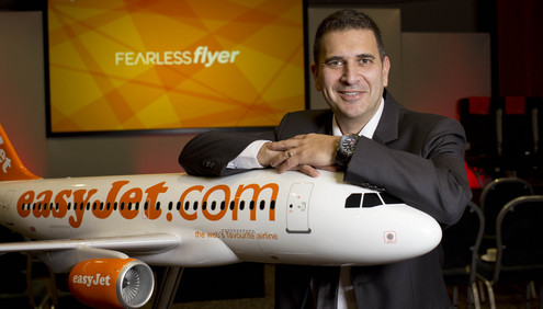 EASYJET- 'FEAR OF FLYING COURSE'  AT LUTON AIRPORT   5.4.14( COURSE HOST) LAWRENCE LEYTON