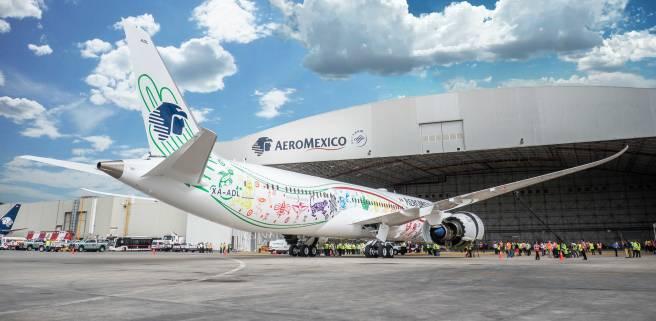 Aeroméxico New 787-9 Dreamliner. Source: Aeroméxico