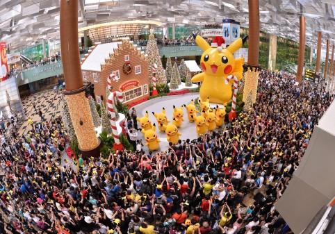 Pikachu at Changi Airport